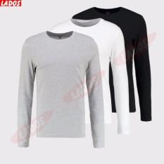 Bộ 3 áo thun body tay dài LADOS-420 ( Đen,Trắng,Xám)