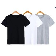 Bộ 3 áo thun trơn nam form rộng phong cách hàng quốc vải dày mịn Everest (Trắng - Đen - Xám)