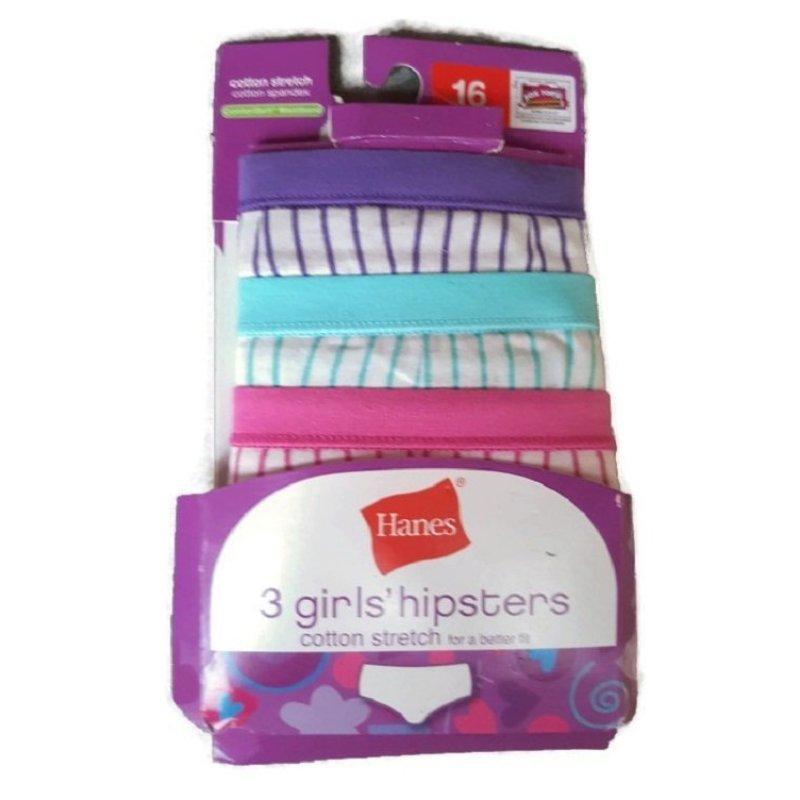 Nơi bán Bộ 3 quần lót bé gái Hanes Girls Hipters cotton stretch spandex