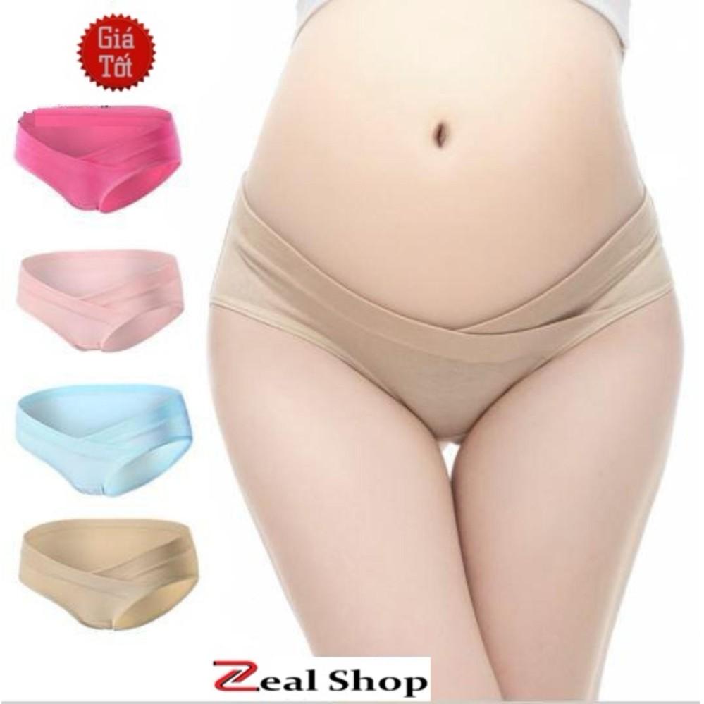 Bộ 3 Quần Lót Cotton Cho Bà Bầu Mềm Mịn ZEAL SHOP