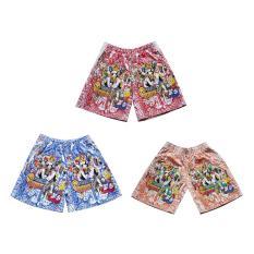 Bộ 3 Quần short thun bé trai 4-10 tuổi Tri Lan (màu sắc và họa tiết ngẫu nhiên)