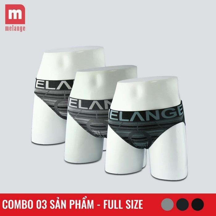 Bộ 3 quần sịp nam đẹp xuất Nhật Melange MB.20.05 (Màu ngẫu nhiên)