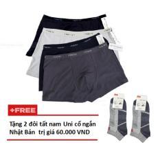 Bộ 4 Quần Lót Đùi Nhật Cho Nam + Tặng 2 đôi tất nam Uni cổ ngắn Nhật Bản trị giá 60.000 VND Thành Công Shop.