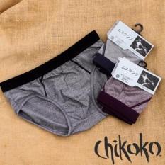 Bô 4 Quần lót nam xuất Nhật viền màu cotton cao cấp Chikoko