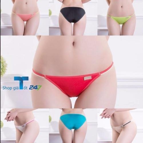 Giá Bộ 4 quần lót nữ cotton Viscose siêu mềm siêu thoáng dây mảnh