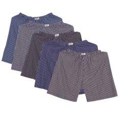 Bộ 5 Quần đùi ngủ mặc trong nam 5MEN SHORTS 022 ABDEF
