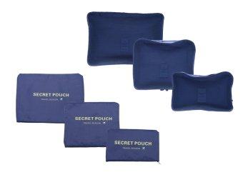 Bộ 6 túi du lịch bag in bag ( Màu Xanh)