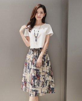 Bộ chân váy và áo thời trang xuân hè (Trắng) - 3