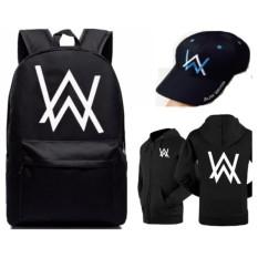 Bộ combo balo Alan walker dày dặn mua 1 tặng 2 :Áo khoác alan walker + nón alan walker