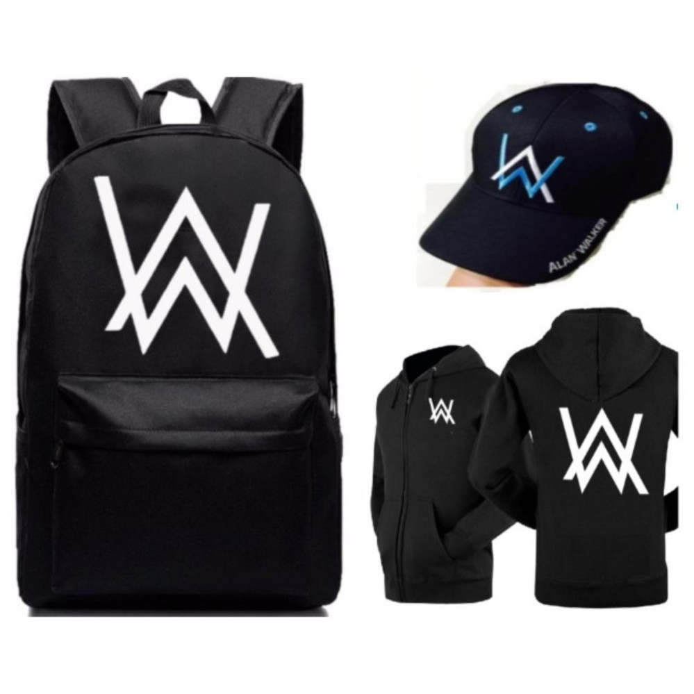 Bộ combo siêu đẳng balo Alan walker dày dặn mua 1 tặng 2 :Áo khoác alan walker + nón alan walker