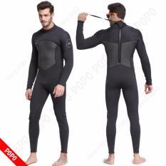 Bộ đồ lặn, quần áo lặn biển 3mm (BLACK) giữ ấm, thoáng khí, chống thầm nước cao cấp POPO Sports