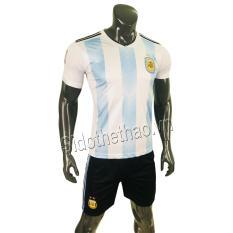Bộ đồ quần áo đá banh – bóng đội tuyển Achentina Argentina sọc trắng xanh Wolrd cup 2018
