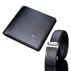 Bộ đôi thắt lưng khóa tự động TGB và ví da dáng ngang Sep