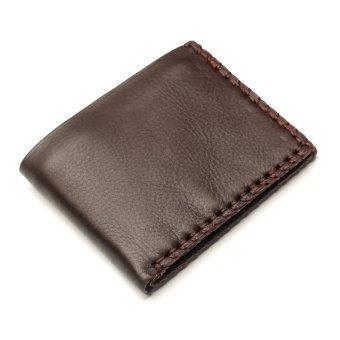 Bộ đôi túi đeo chéo da công sở thời trang + ví nam da bò cá tính B276132N (Nâu)
