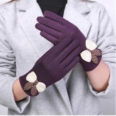 Bộ găng tay nỉ cảm ứng nữ chất đẹp(màu ngẫu nhiên)