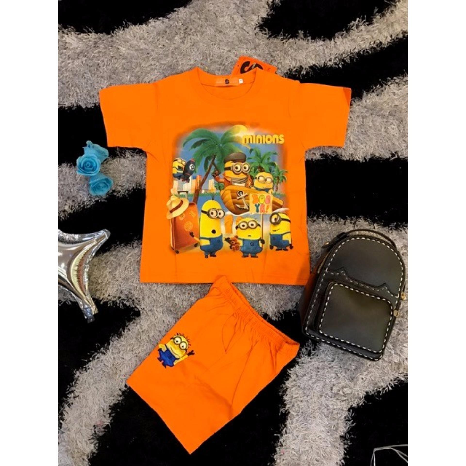 Bộ hoạt hình bé trai Minions – Màu cam