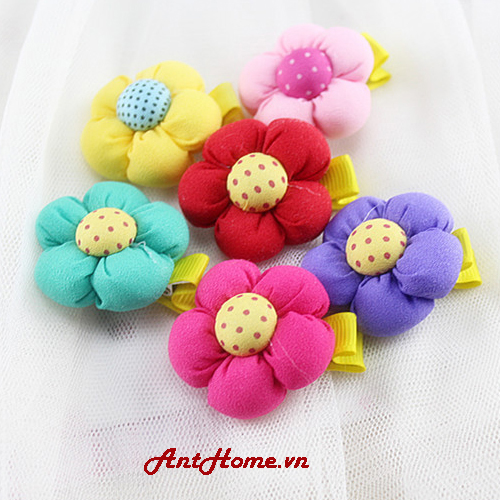 Bộ Kẹp Hoa Handmade Kh79 (Hồng Sẫm)