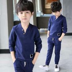 Đồ bộ dài tay cho bé trai 6 tuổi đến 10 tuổi chất cotton da cá( Màu Xanh dương- Xanh đậm- Xanh lá)