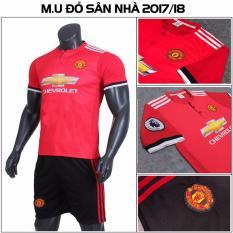 Bộ quần áo đấu MU sân nhà 2017 2018 màu đỏ