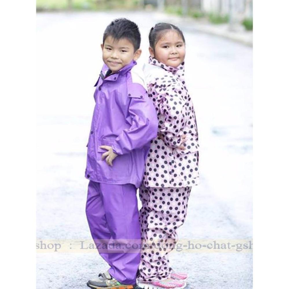 Bộ Quần áo mưa Trẻ em Cao Cấp : Siêu bền - Siêu Nhẹ