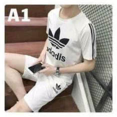Bộ quần áo thể thao nam B344 (trắng)