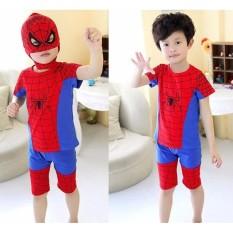 Bộ siêu nhân nhện TẶNG mặt nạ cho bé trai năng động ( Cho bé từ 8-42Kg).