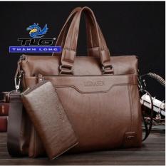 Bộ túi ví nam cao cấp Đồ Da Thành Long TLG 159 449 (nâu) Tặng móc khóa da thật K 550