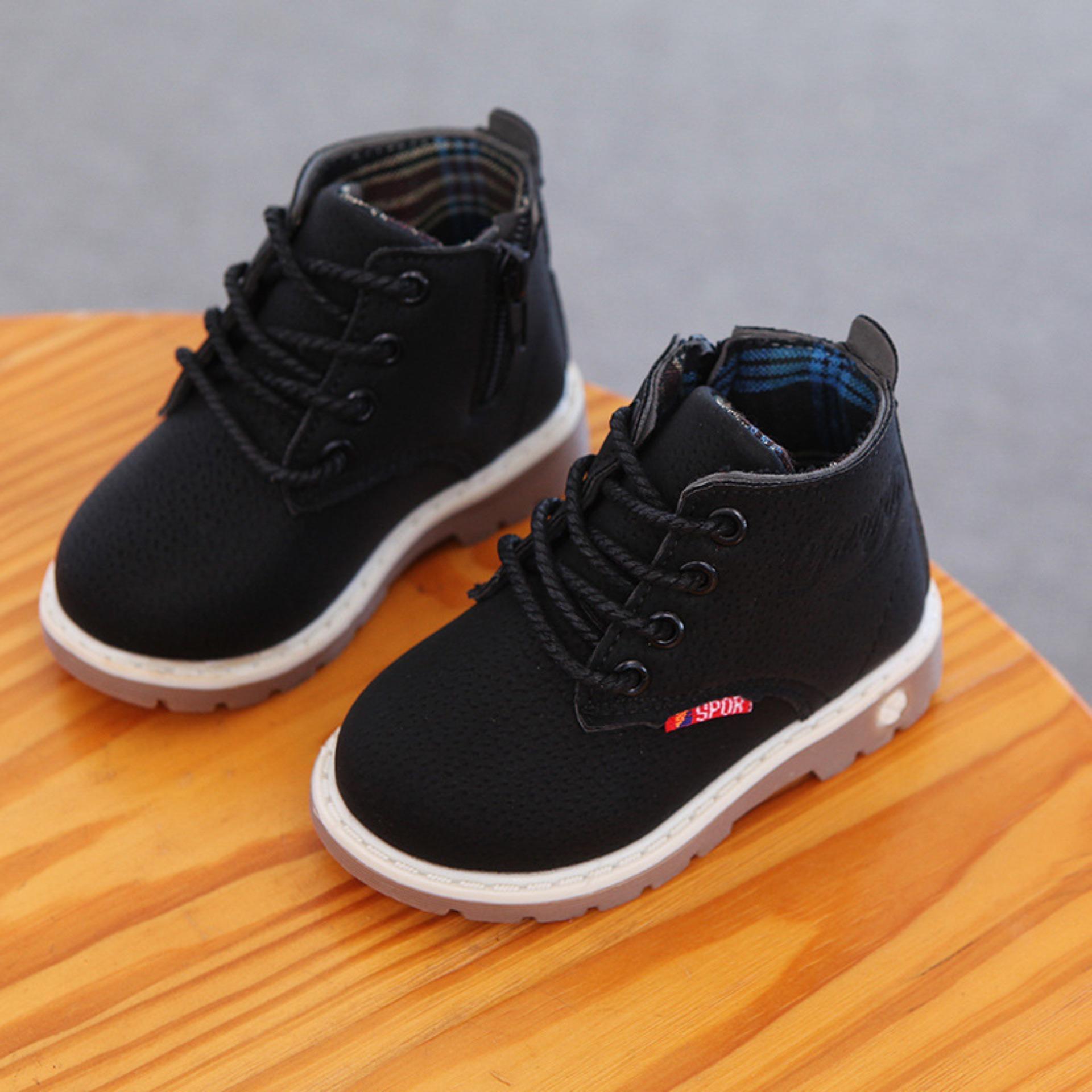 Boot trẻ em sành điệu cho bé D8501 đen/đỏ/nâu