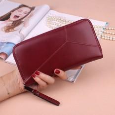 Bóp ví cầm tay nữ đựng thẻ, điện thoại tiện dụng thời trang HQ (màu mận chín)
