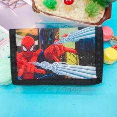 Bóp ví đựng tiền xếp gọn mở 3 mặt Marvel người nhện Spiderman bắn mạng nhện màu đen dành cho bé trai (USA) – SPM81088 (13x1x8.5cm)