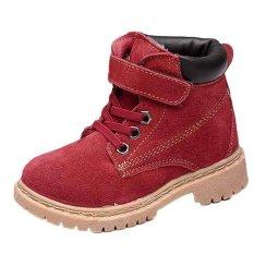 Free shipping Bé trai bé gái Trẻ Em Phong Cách Da Cotton Khởi Động Ấm Tuyết Cổ Tới Mắt Cá Giày-quốc tế