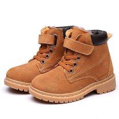 Bé trai bé gái Trẻ Em Phong Cách Da Cotton Khởi Động Ấm Tuyết Cổ Tới Mắt Cá Giày-quốc tế
