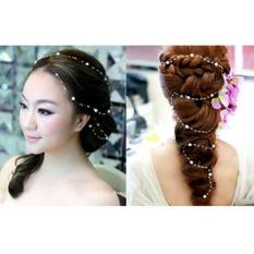 Briden Photo Party Wedding Hair Bride Headband Pearls Starry Hair Band All-match For Bridal Bride Hair Jewelry Wedding – intl