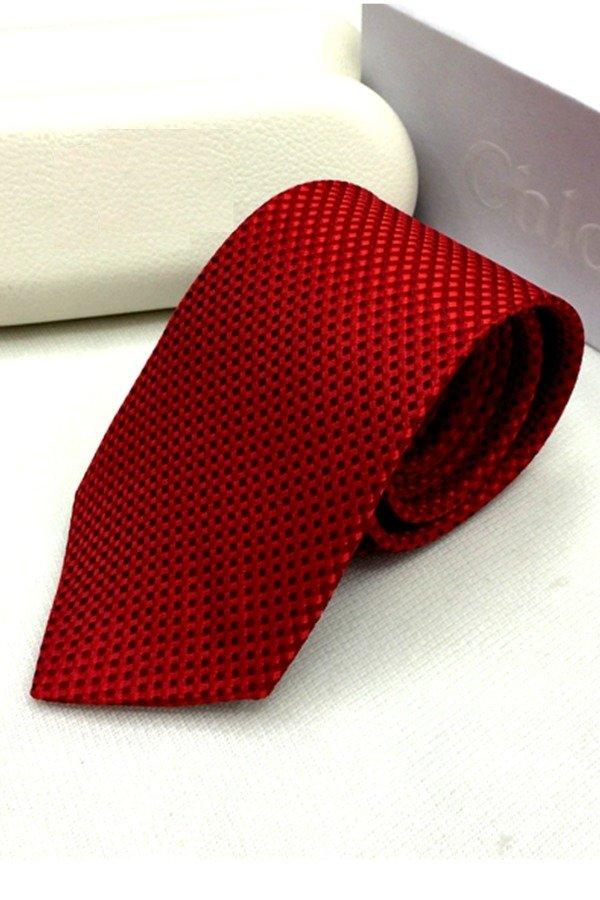 Cà vạt lụa TLG bản vừa 206009-2 (Đỏ)