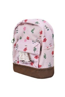 ... Canvas Mini Floral Backpack Women Pink - Intl - intl ...