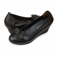 Giày Đế Xuồng Cao 5cm Da Thật Siêu Mềm Evelynv 5P01LP (Đen – Nâu – Kem)