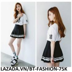 Chân Váy Ngắn Xếp Ly Lưng Cao Thời Trang Hàn Quốc Mới – BT Fashion VA025 (PVĐ)