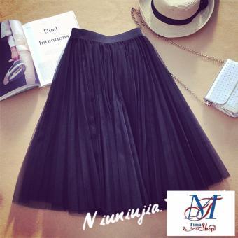OE680FAAA5ITCBVNAMZ-10137721 - Chân váy nữ xòe lưới thời trang dạo phố 2017 hot summer (đen)