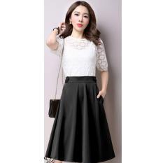 Giá Sốc Chân Váy Xòe Nana Cách Điệu Lưng / Đen