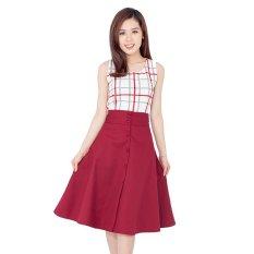 Cập Nhật Giá Chân Váy Xòe Vintage Phối Nút (Đỏ)