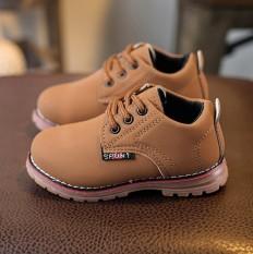 Thời Trang trẻ em Bé Trai Bé Gái Martin Giày sneaker tăng Phối Ren Kids Cho Bé Giày-quốc tế