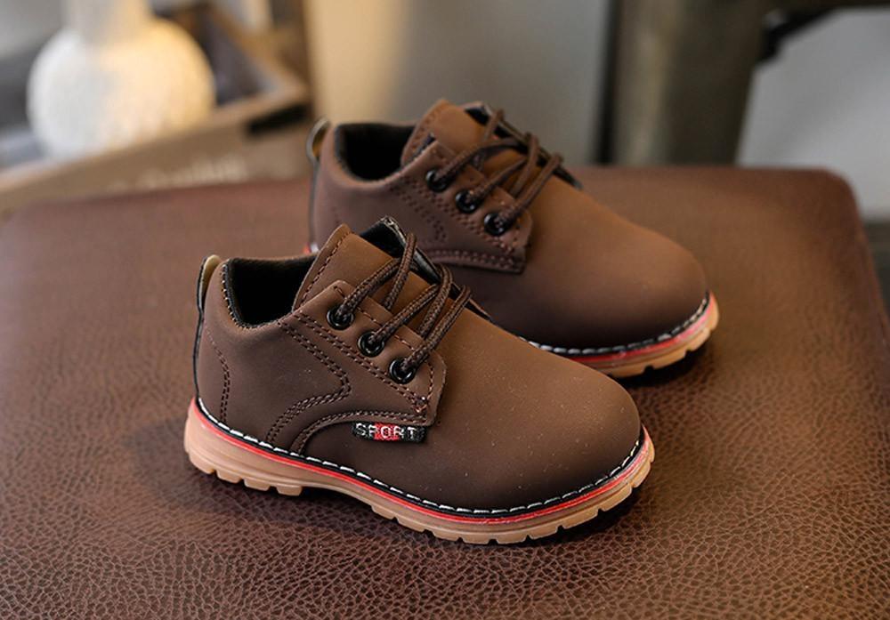 Thời Trang trẻ em Bé Trai Bé Gái Martin Giày sneaker tăng Phối Ren Trẻ Em Cho Bé Giày-quốc tế