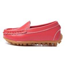 Giày trẻ em Da PU Giày Thể Thao Cho Bé Trai And Bé Gái Thuyền Giày Slip On Đế Mềm giày Đế Bằng-Quốc Tế