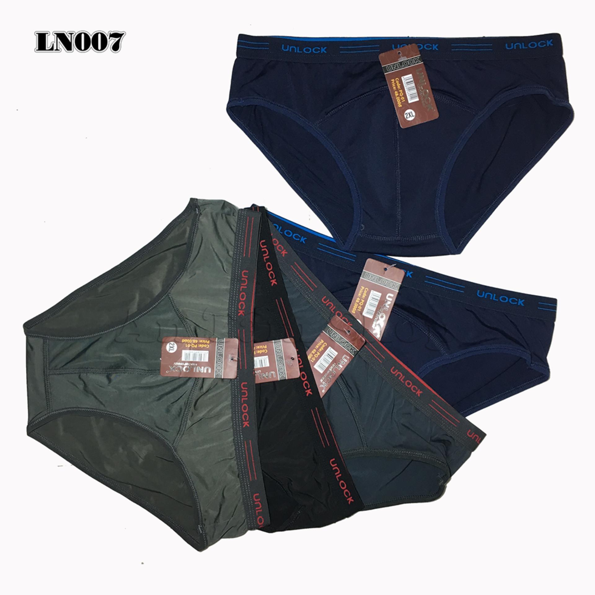 Combo 05 quần lót nam UNLOCK thun lạnh cao cấp