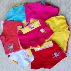 Combo 12 quần chip đùi cùng size, nhiều màu cho bé gái, size từ 6-28kg