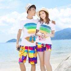 Combo 2 bộ đồ đôi đi biển – combo gồm áo và quần