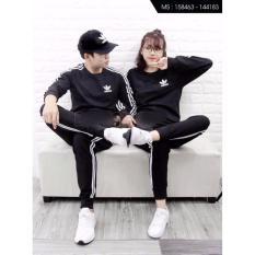 Combo 2 bộ đồ thể thao thu đông nam nữ B477 (đen)