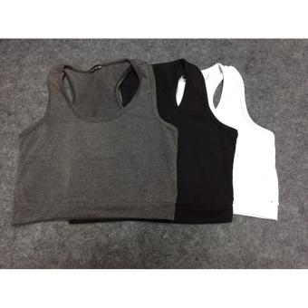 Combo 3 áo ba lỗ nữ croptop(đen trắng xám)