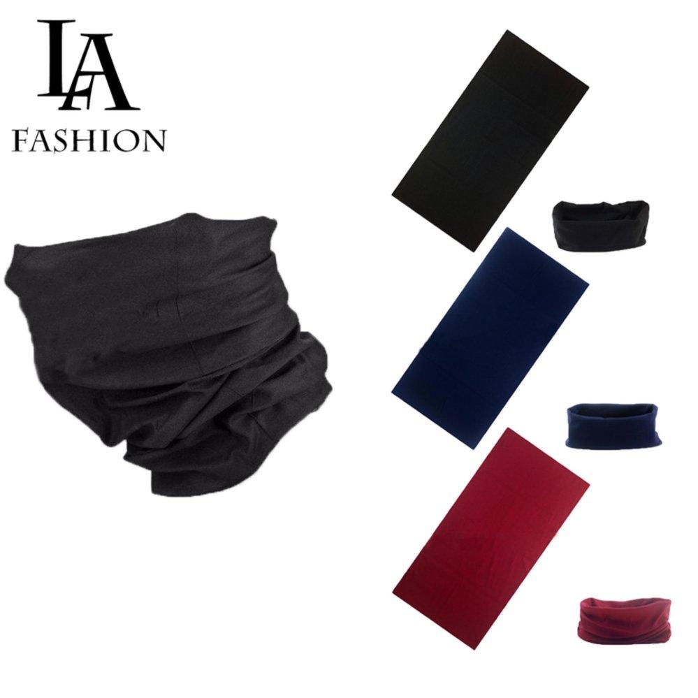 Combo 3 Khăn đa năng nam nữ thể thao dành cho phượt thủ – Chất liệu sợi siêu mịn polyester – Kích thước 25×48 cm ZAVANS (Đen, xanh đen, đỏ đô)