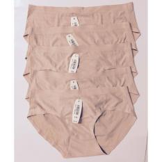 Combo 5 quần lót nữ không đường may thoáng khí (da)